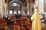 В Неделю сыропустную Высокопреосвященнейший митрополит Иоасаф совершил богослужение в Кафедральном соборе Рождества Пресвятой Богородицы (+ВИДЕО)
